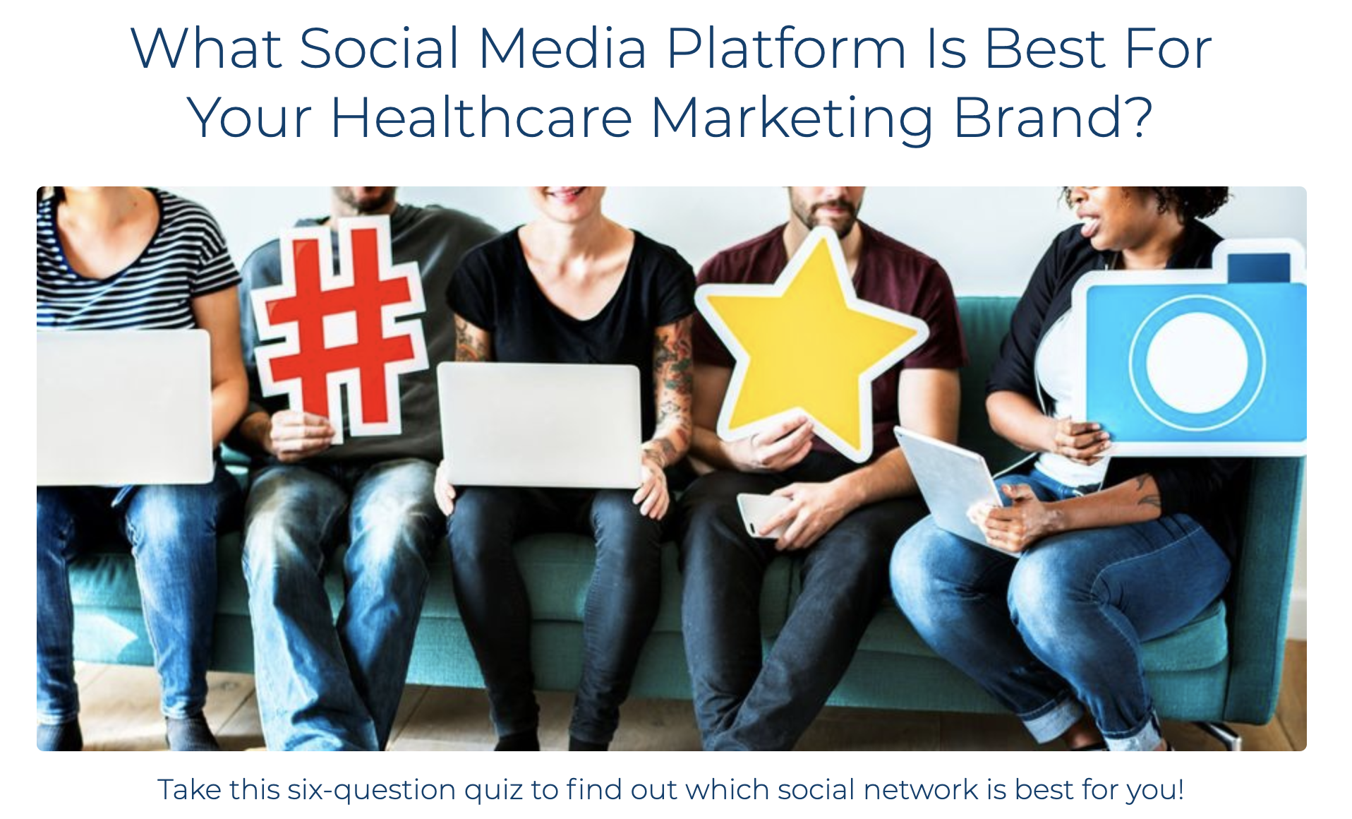 healthcare marketers social media