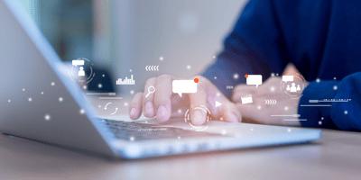 healthcare marketer engaging social media